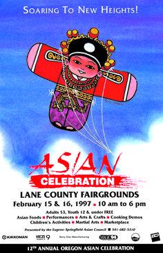 Oregon Asian Celebration poster circa 1997.