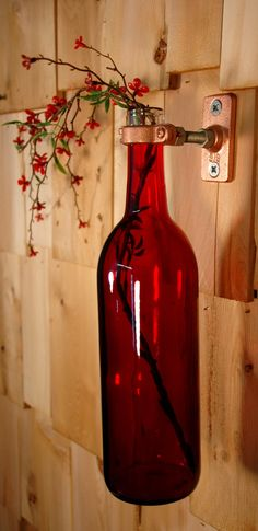 Simply Elegant Red wine bottle stem holder by PineknobsAndCrickets, $16.00