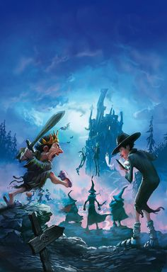 Sir Terry Pratchett 's Discworld by marc simonetti, via Behance