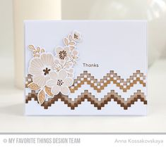 Handmade card from Anna Kossakovskaya featuring Stepped Up Chevron Die-namics September Free with $60 #mftstamps