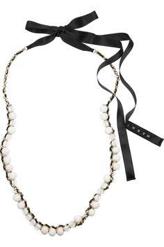 MARNI  Beaded chain and ribbon necklace  €385  www.sophieinmonaco.com
