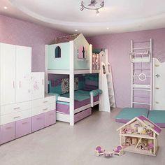 Какой должна быть детская комната для двух девочек? ✨ Идеальным выбором будет оформление интерьера в нейтральной цветовой гамме, обязательно наличие просторных полок, чтобы ребенок с легкостью мог добраться до любимых игрушек и книг. Если же площадь пространства не позволяет разместить две кровати, можно выбрать двухъярусную - главное, чтобы мебель была удобная и функциональная. Помните, что дизайнеры @cleveroom_rus разработают дизайн-проект детской комнаты в соответствии с любыми вашими…
