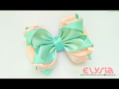 How To Make : Satin Ribbon Bow With Own Hand | DIY by Elysia Handmade - YouTube
