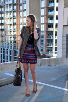 Tribal skirt and utility jacket  seekwandershare.com