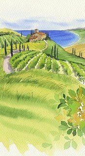 Mary Woodin Watercolour Illustration | Places