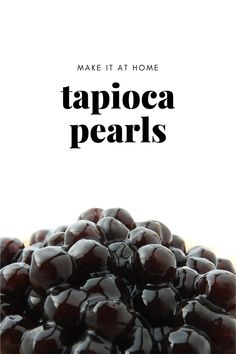 How to Cook Tapioca Pearls Bubble Tea Flavors, Thai Milk Tea, Tapioca Pearls, Simply Filling, Few Ingredients, Simple Syrup, Cooking, Kitchen, Syrup