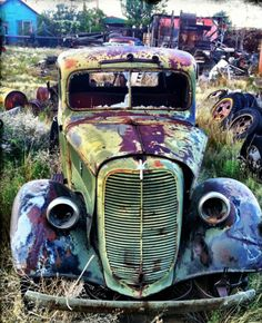 old truck in need of some tlc to become a really cool street rod