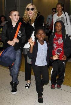 Madonna & Rocco & Mercy & David