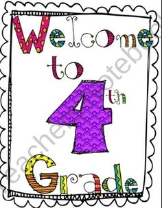 Back to School Activity Packet: Welcome to 4th Grade product from katietexas on TeachersNotebook.com