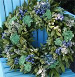 blueberry hill wreath by Circle Home and Design