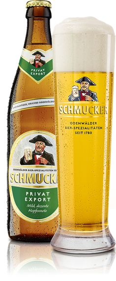 Cerveja Schmucker Privat Export, estilo Dortmunder Export, produzida por Privat-Brauerei Schmucker , Alemanha. 5.2% ABV de álcool.