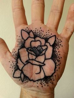 Rose Palm Tattoo Done By Luis Marquardt http://tattoos-ideas.net/rose-palm-tattoo-done-by-luis-marquardt/