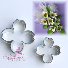 dogwood petal cutters, for fondant, gum paste or cold porcelain flowers