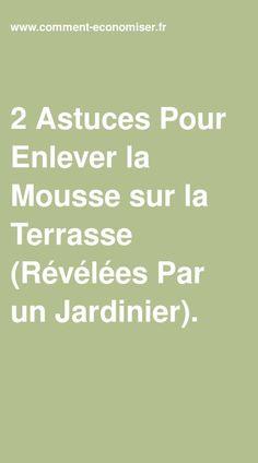 2 Astuces Pour Enlever La Mousse Sur La Terrasse Revelees Par Un Jardinier En 2020 Terrasse Jardinage Bio Mousse