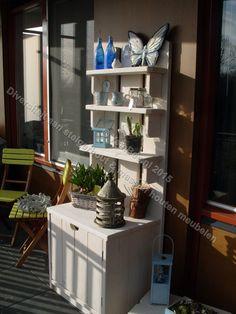 Voor de tuin van steigerhout gezien bij eigen huis en tuin for the home pinterest tuin for Buiten patio model