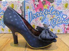 Irregular-choice-mal-e-bow-avec-n-ud-a-pois-bleu-talon-cour-chaussures