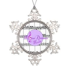 MoonDreams Music Pewter Snowflake Ornament #Christmas #ornament #pewter #moondreamsmusic #holidays
