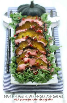 You searched for Maple roasted acorn squash salad with pomegranate vinaigrette - The Healthy Maven Vegetable Salad Recipes, Healthy Salad Recipes, Delicious Recipes, Main Dish Salads, Dinner Salads, Entree Recipes, Side Dish Recipes, Easy Salads, Summer Salads