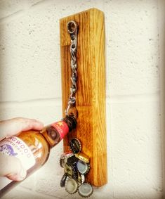 One of my Wall Mounted Beer Wrench bottle openers. Get yours at TheBeerWrench.etsy.com