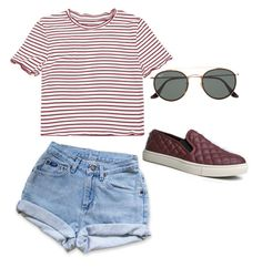 """""""Untitled #4"""" by alexisjordannn on Polyvore featuring Levi's, Steve Madden and Ray-Ban"""