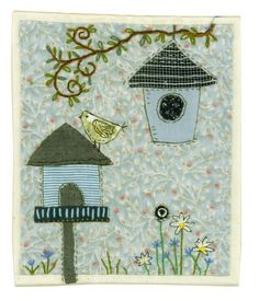 Sharon Blackman - another lovely piece of her work Hand Applique, Machine Applique, Applique Patterns, Applique Designs, Embroidery Applique, Embroidery Designs, Freehand Machine Embroidery, Free Motion Embroidery, Free Machine Embroidery