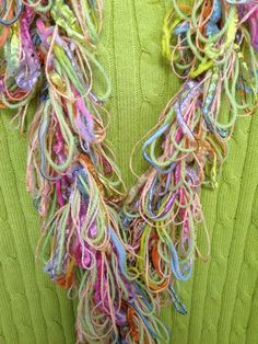 Hairpin Lace Scarf/Lightweight by TravelinStitches on Etsy, $25.00....SPRING!!!! Ah yes
