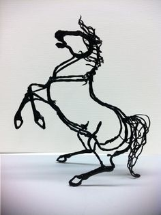 Black Stallion in the Wind 3doodle