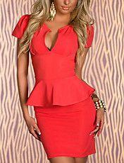 Cheap U-neck OL Peplum Dress Orange online - All Products,Fashion Dresses,Peplum dresses Cheap Dresses, Sexy Dresses, Fashion Dresses, Short Sleeve Dresses, Dresses With Sleeves, Peplum Dresses, Short Sleeves, Vestidos Color Naranja, Office Dresses For Women