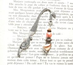 Summer themed bookmark, Reading, Natural shell bead, Mermaid metal book mark - Gifts for her, girlfriend, sister, book lovers, beach lovers by Milaekem on Etsy