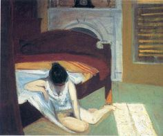 Summer Interior: 1909 by Edward Hopper (Whitney Museum of American Art, New York, USA) - Ashcan School or Realism?