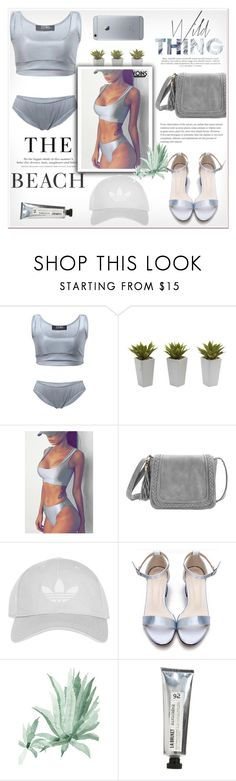 """""""Gray // yoins"""" by soygabbie ❤ liked on Polyvore featuring H&M, Nearly Natural, Topshop, L:A Bruket, yoins, yoinscollection and loveyoins"""