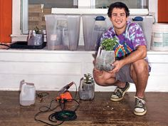 Garduino Geek Gardening - Create an automated watering, light, and temp control system.