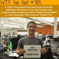 WTF Fun Facts is updated daily with interesting & funny random facts. We post about health, celebs/people, places, animals, history information and much more. New facts all day - every day! Wtf Fun Facts, True Facts, Funny Facts, Random Facts, The More You Know, Good To Know, Did You Know, Unusual Facts, Interesting Facts
