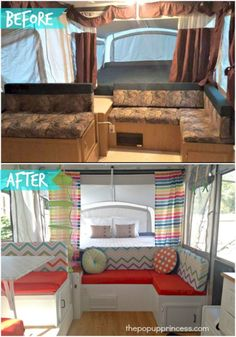 Inspiring 42+ Amazing RV Camper Makeover Ideas Before And After Collections https://decoor.net/42-amazing-rv-camper-makeover-ideas-before-and-after-collections-798/