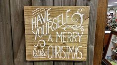 Wood Sign - Christmas Sign - Have yourself a Merry little Christmas, Approx 16x15 Reclaimed wood sign, a beautiful addition to any home or business! Available in natural background with white letters, white background with black or robins egg blue letters or robins egg blue background with white or black letters. Please include your color selection when ordering in the notes to seller section. This Christmas sign has such character, and you will absolutely love the feel it brings to your…
