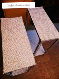 Decoupage, transfer y otras técnicas. Restauración de muebles. Tutoriales DIY y craft ideas.: Concurso DIY estanterías metálicas. Parte II