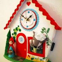 Red Riding Hood clock by bettyoctopus http://bettyoctopus.com/2013/03/red-riding-hood-clock/