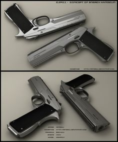 I started with colt 1911 and rebuilt it into this.  This concept is bulet free design.Work has been made in 3ds max + vray as rendering engine. Completed in Photoshop. Picture is ...