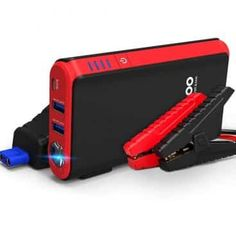 Quick Charge In & Out, GOOLOO Peak Car Jump Starter (Up to Gas or Diesel Engine) Power Pack Auto Battery Booster Portable Phone Charger, Built-in LED Light - Electronics Lists Products Online Portable Phone Charger, Golf Cart Batteries, Solar Panel System, Led Work Light, Lead Acid Battery, Diesel Engine, Led Flashlight, Car Accessories, Red