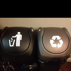 Trash and Recycle symbols I made with my Silhouette Cameo:)