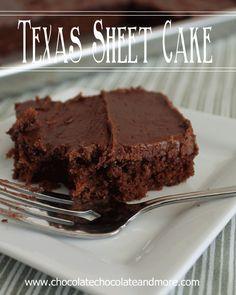 Texas Sheet Cake from www.chocolatechocolateandmore.com