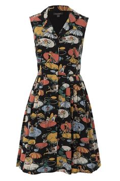 3aec3840934 Emily   Fin Pool Party Print Jessica dress in Black at Campbell Crafts Pool  Party Dresses