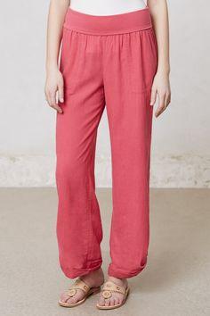 linen lounge pants, so luxe