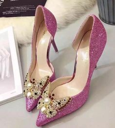 Crystal prom shoes bridal sandals wedding shoes wedges chunky