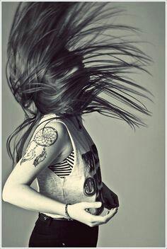 Dreamcatcher arm tattoo