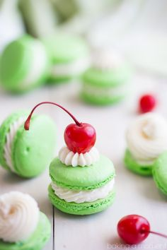 Shamrock Shake Macarons! So much fun for St. Patrick's Day!