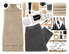 """""""Cappuccino"""" by sarahkatewest ❤ liked on Polyvore featuring Madewell, NARS Cosmetics, Brinkhaus, Christy, H&M, Michael Van Clarke, ADAM, Paige Denim, John Lewis and ROOM COPENHAGEN"""