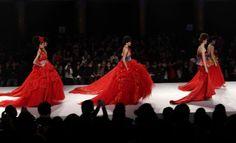 Haute couture fashion.