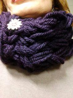 Violet mania.arm knitting