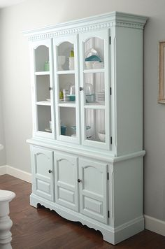 china hutch, love color -- fill with other items besides dishes ...